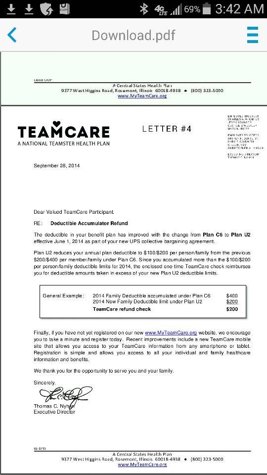team care.org Ups life policy? | Page 2 | BrownCafe - UPSers talking about UPS