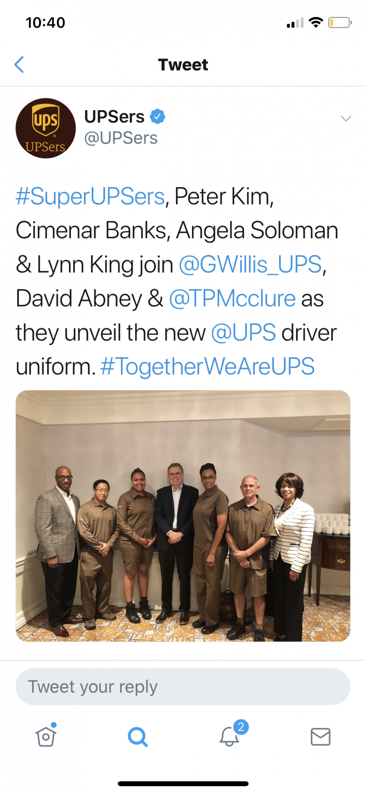 New uniforms? | BrownCafe - UPSers talking about UPS